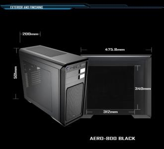 Case AeroCool Aero 800 Black Window
